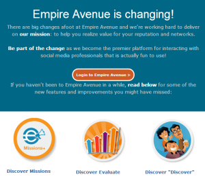 empire avenue is changing
